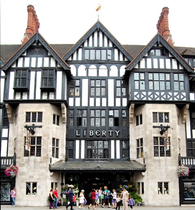 Liberty of London, a fun fabric and notions shop that also has beautiful fashions and home goods if your budget allows.