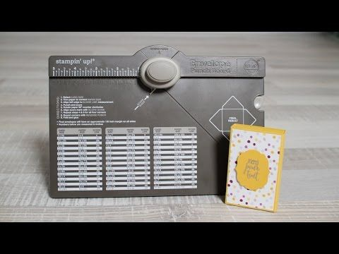 Box tutorial also in English / Boîte d'allumettes avec l'Insta'enveloppes de Stampin'Up! - YouTube