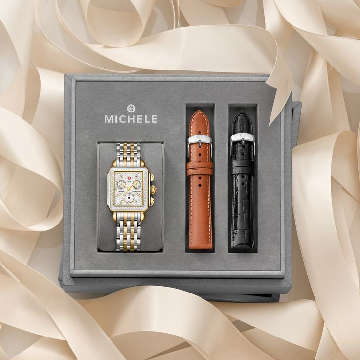 Make her season merry and bright with the signature MICHELE Deco watch.