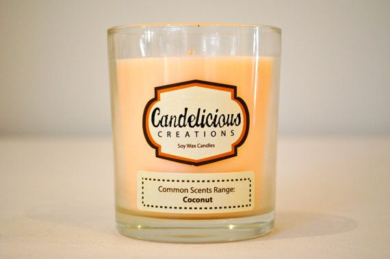 Soy Wax Coconut Scented Candle Jar  Common by CandeliciousCreation, $15.00