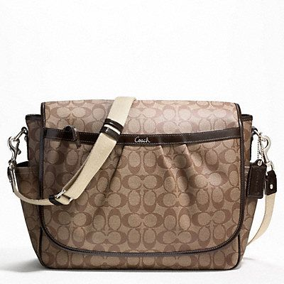 Other option for diaper bag...looks very functional and durable!  Just have to make sure Dane gets his own boyish one ;)