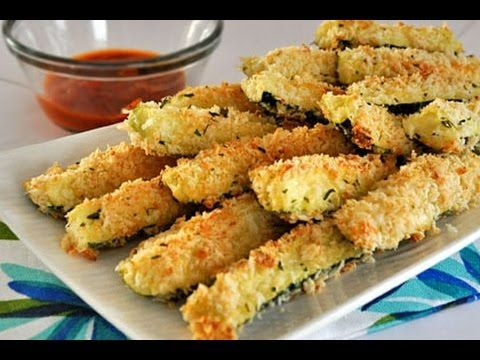 Baked Zucchini Fries - Crispy Healthy Baked Zucchini Fries - HealthConsciousMeals - YouTube