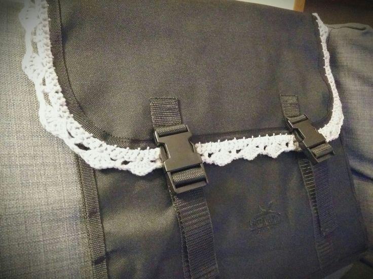 Crochet detail for a bike bag #easy#crochet