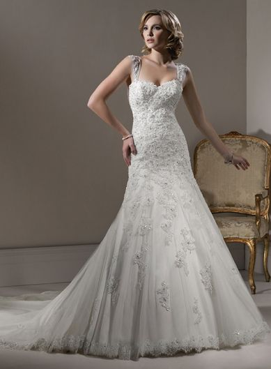 Sweetheart Natural waist Trumpet / Mermaid Tulle wedding dress MY EXACT DREAM