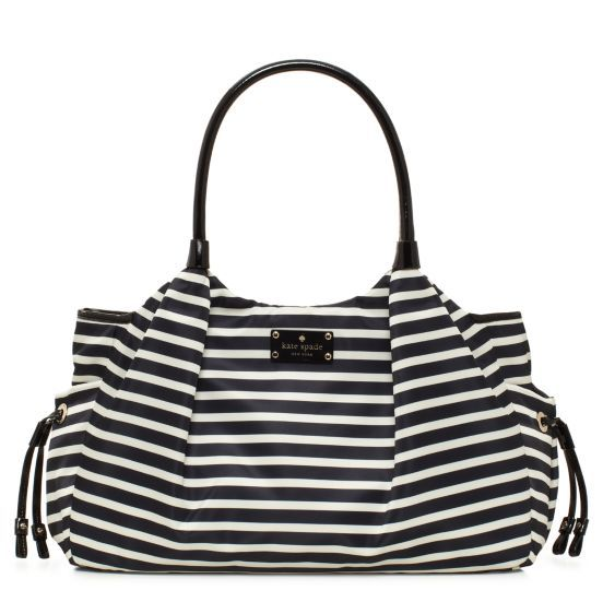 Gorgeous Kate Spade Stevie Baby Bag—you can't even tell it's a diaper bag!: Diaper Bags, Spade Nylon, Diapers Bags, Stevie Baby, Nylon Stripes, Spade Diapers, Stripes Stevie, Kate Spade, Baby Bags