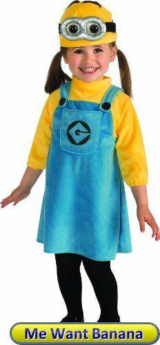 Rubies Costume Despicable Me 2 Female Minion Romper Blue/Yellow Infant