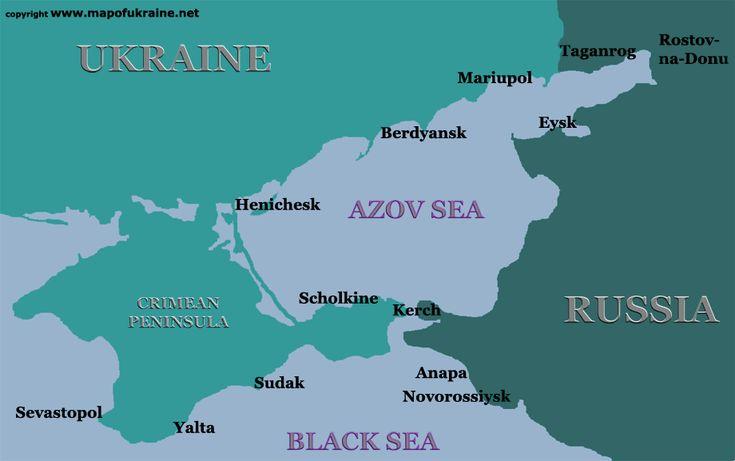 Sea of Azov | map of azov sea