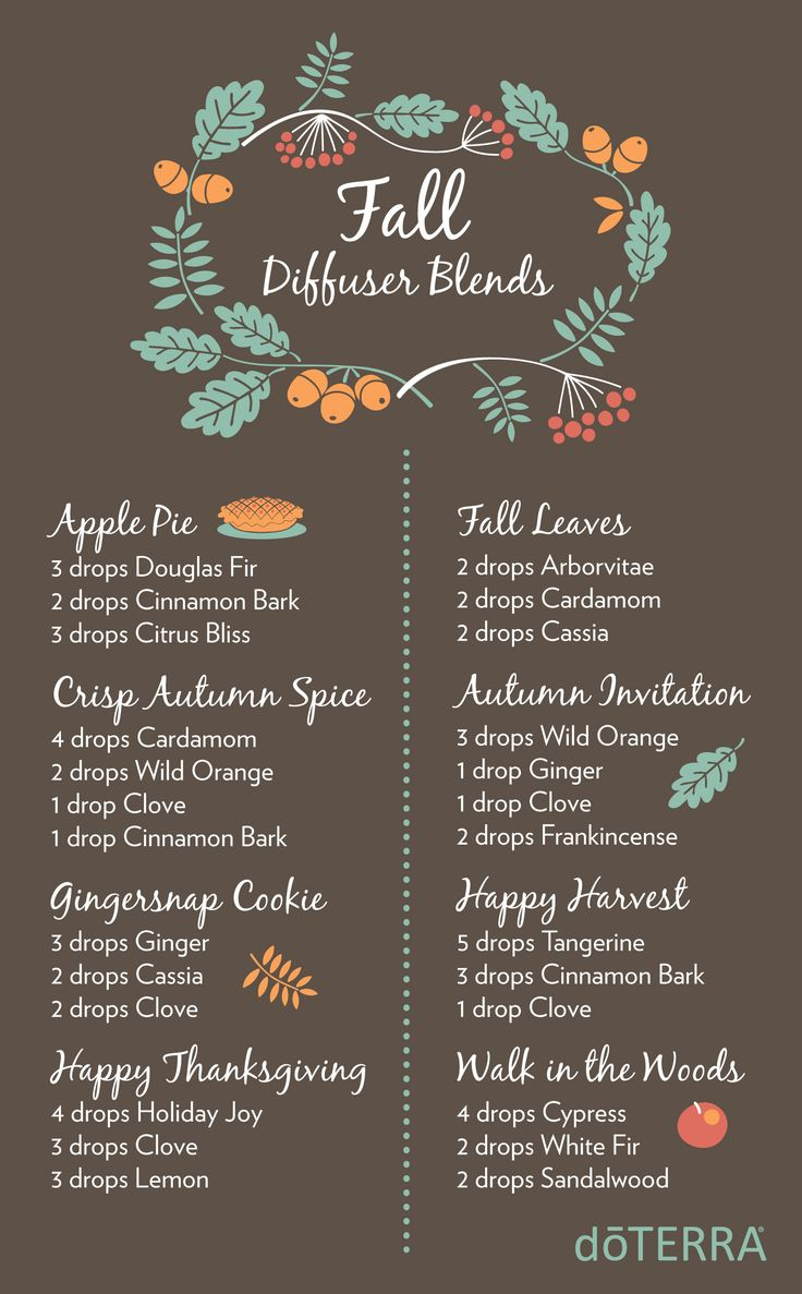 8 Fall Diffuser blends with doTERRA Essential Oils