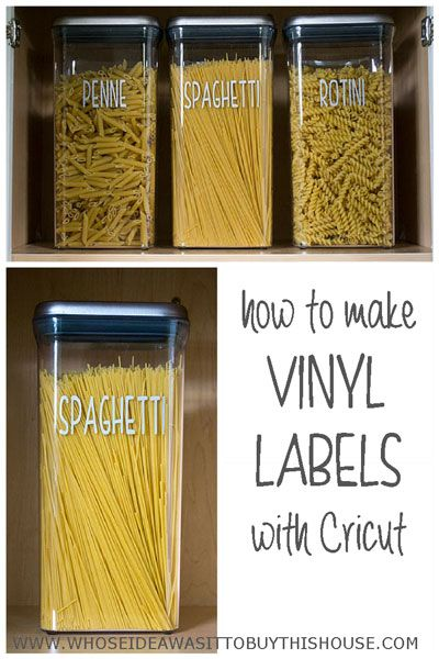 Create cute pantry labels with Cricut!