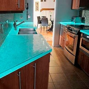 25 best ideas about blue countertops on pinterest for Blue countertop kitchen ideas