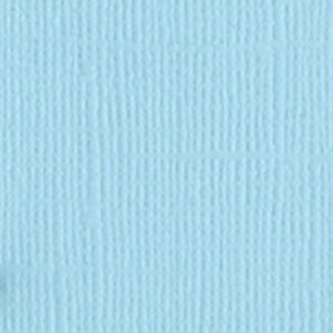 7-706 Картон однотонный с текстурой *холст* (цвет - детский голубой), Bazzill Basics, 1 лист - Кардсток (картон) - Скрапбукинг