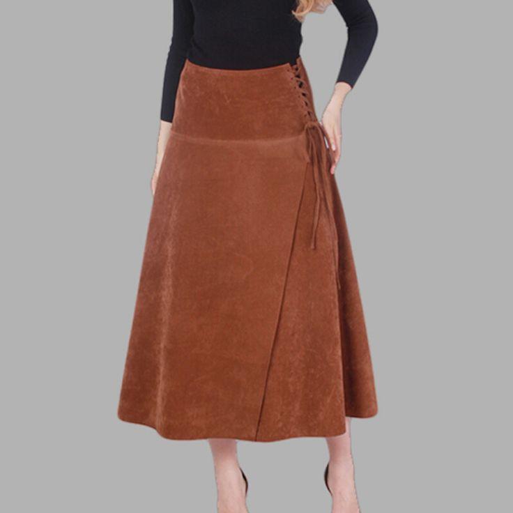 Aliexpress.com: (10, 40€) Comprar Sólo cachemira falda Sexy Solid Brown Lace - Se puede recoger (estilo steampunk), y conjuntar con unas medias doradas