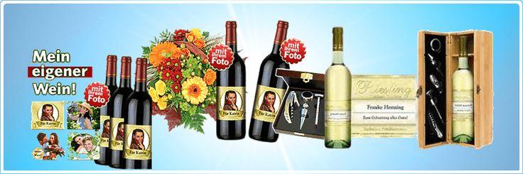 Weingeschenke mit selbst entworfenen Weinetiketten