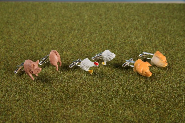 Egg & Bacon Cufflinks. Leketøys/Play Again by Platou+Platou.