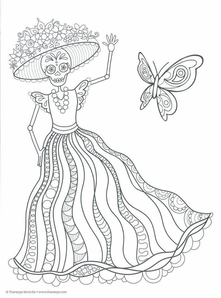 Dibujos Para Colorear El Día De Los Muertos 36 Calaveras