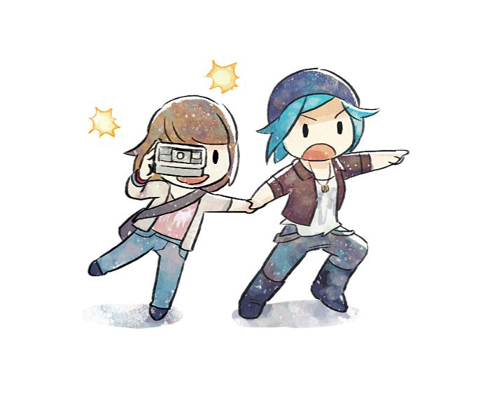 Cute chubby art • Life is Strange • LiS • Max Caulfield • Chloe Price • Pricefield