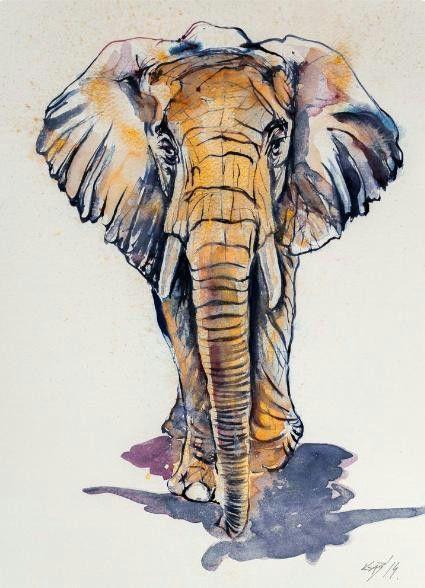 Best 25 elephant art ideas on pinterest elephant wall art paintings of elephants and - Dessin elephant ...