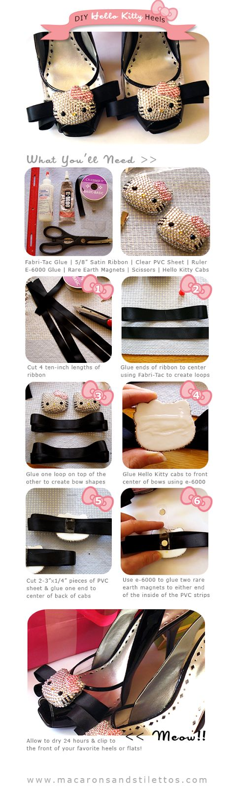 Macarons and Stilettos - For the Love of Kawaii and Fashion: DIY Hello Kitty High Heels Tutorial