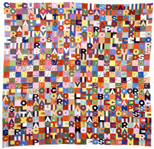 Embroidery on muslin (1989),  Alighiero Boetti