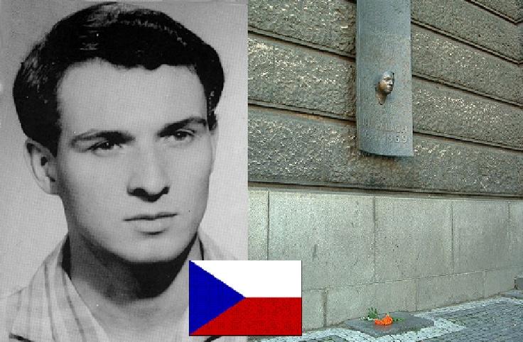 Jan Palach  immolatosi il 16 gennaio 1969 in Piazza S.Venceslao a Praga…