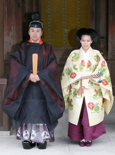 Princess Noriko of Japan and Kunimaro Serge prepare for their wedding ceremony