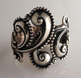 Silver Clamper Bracelet by Gerardo Lopez, c 1955