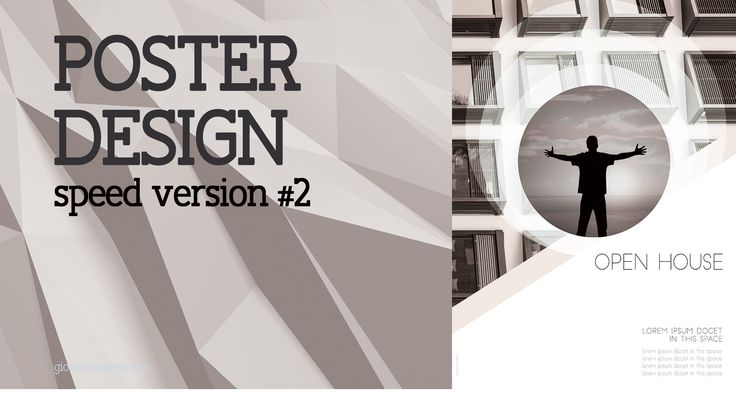 Poster Design with Photoshop - Speed Art #2 | Open House