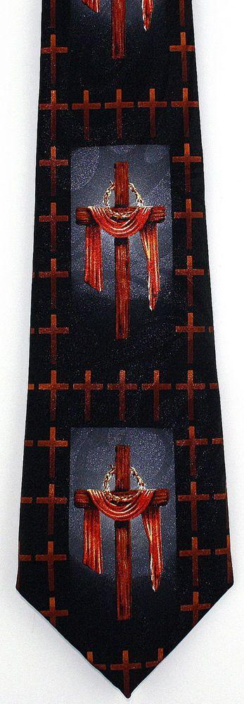 42 best christian religious easter images on pinterest easter new draped cross crown mens necktie christian jesus christ religious neck tie stevenharris negle Images