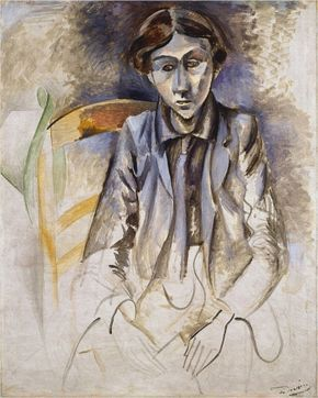 art,derain,1913,1914-Portrait de jeune homme (c. 1913-1914) Huile sur toile rehaussée de crayon (92 x 74)