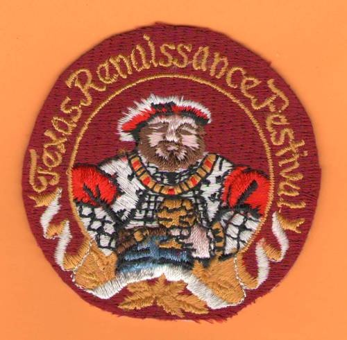 Texas Renaissance Festival Ren Fair Patch -NEW Medievil