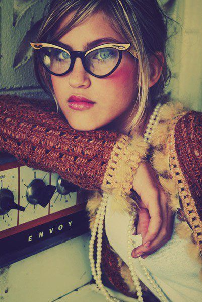 ❥ glasses.  I am getting  pair of Vintage eyeglasses for my next pair!  I don't care what people say I am going to rock them!