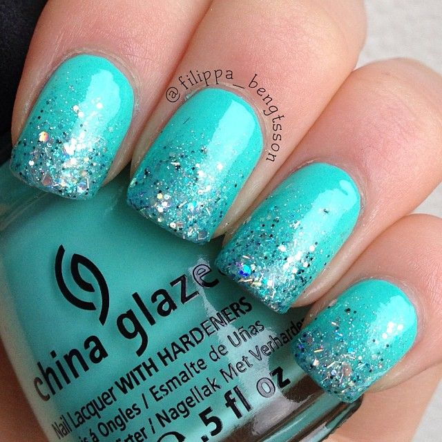 22 Spectacular Nail Art Design Ideas With Fresh Colors - Best 25+ Teal Nail Polish Ideas On Pinterest Sparkle Nail Polish