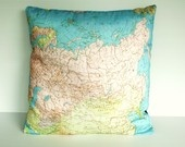 AFRICA Organic cotton Vintage Atlas map of Africa, cushion cover, pillow,. $55.00, via Etsy.
