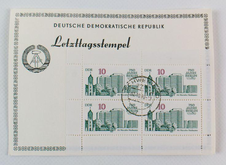 """DDR Museum - Museum: Objektdatenbank - """"Briefmarken mit Letzttagsstempel"""" Copyright: DDR Museum, Berlin. Eine kommerzielle Nutzung des Bildes ist nicht erlaubt, but feel free to repin it!"""