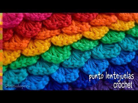(15) Punto lentejuelas tejido a crochet - Tejiendo Perú - YouTube