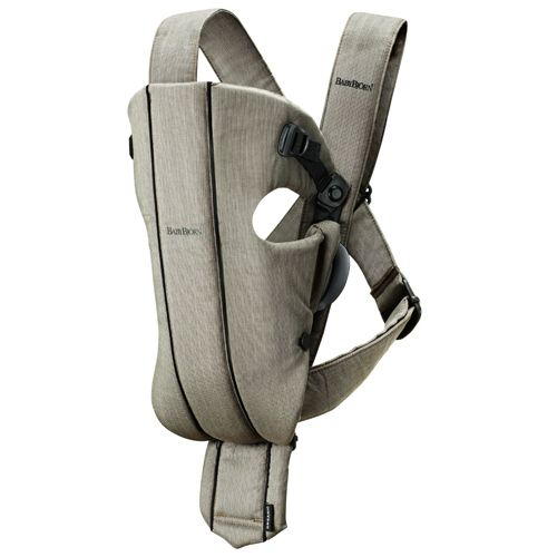 Baby Bjorn Original Carrier Organic. Makes everything easier! Taking the dogs out, doing laundry, tidying up, etc.