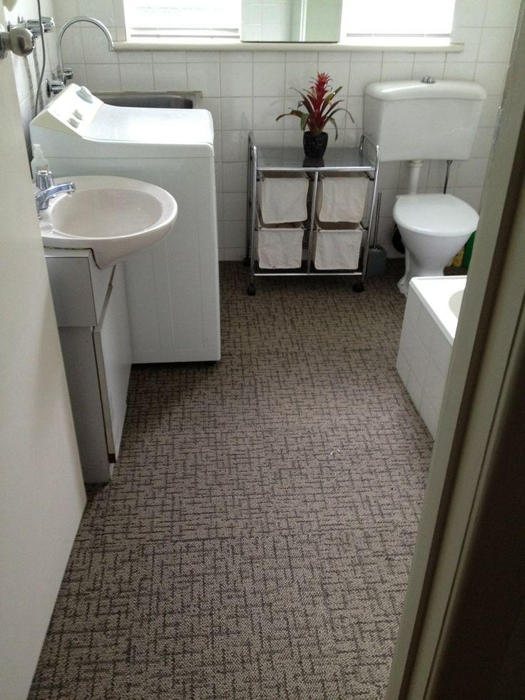 White Wall To Wall Bathroom Carpet