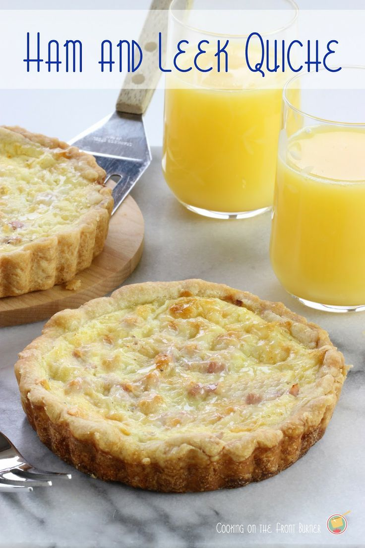Ham and Leek Quiche   Cooking on the Front Burner #quiche #breakfast