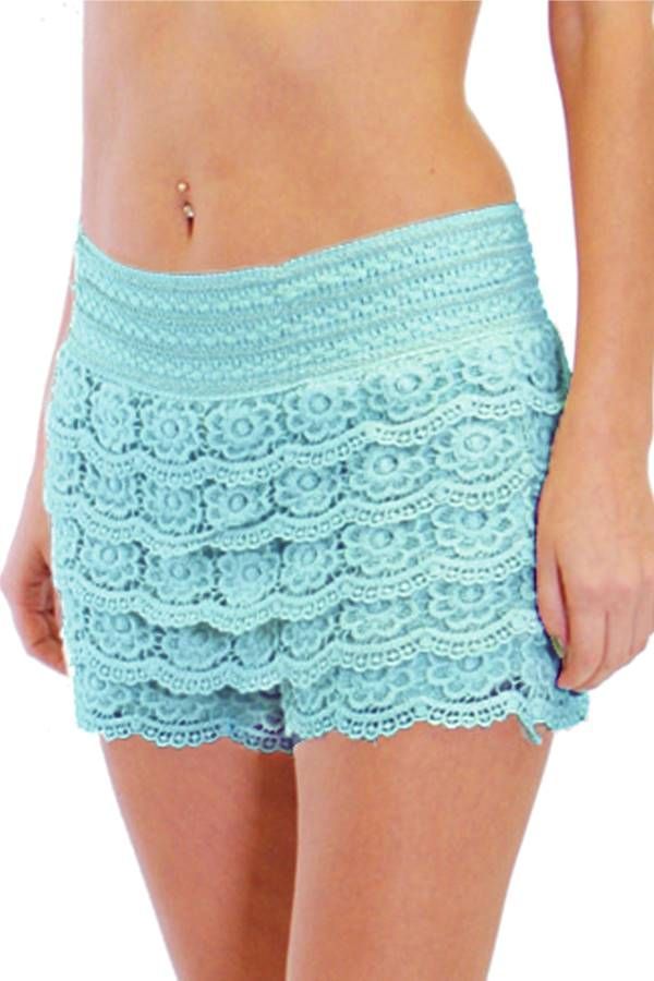 Women's Cream Crochet Shorts is Perfect For The Summer  - Fashion Outlet NYC - Fashion Outlet NYC