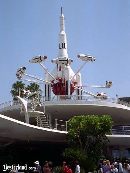 At Disneyland, the Rocket Jets circled above Tomorrowland from July 1967 until January 1997—almost 30 years.