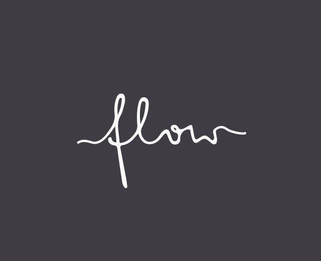 I love a good script logo - flow coffee lounge.