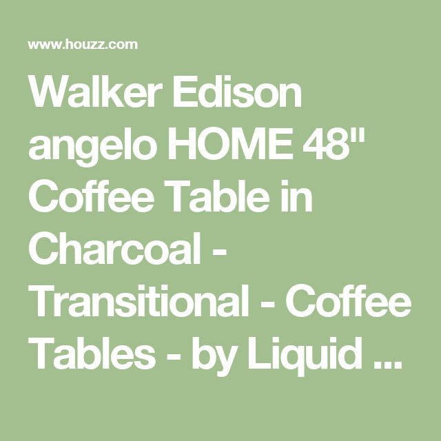 """Walker Edison angelo HOME 48"""" Coffee Table in Charcoal - Transitional - Coffee Tables - by Liquid Dynamite"""