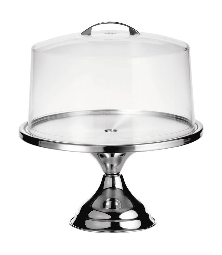 2 Piece Cake Stand with Cover Set