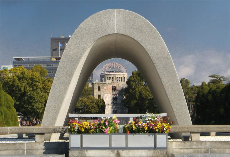 Hiroshima Peace Park Memorial Cenotaph and A-Bomb Dome - because we should not forget