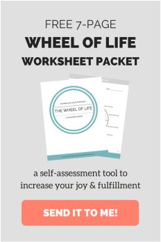 Wheel of Life Worksheets. A tutorial and FREE worksheets for goal-setting and…