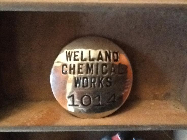 Welland Chemical Works ID badge.