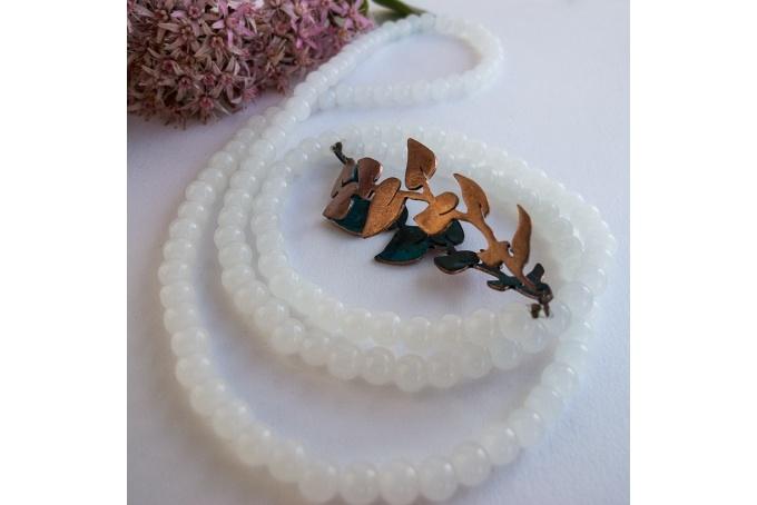 Mirrored vine necklace by Tessa J Kelly