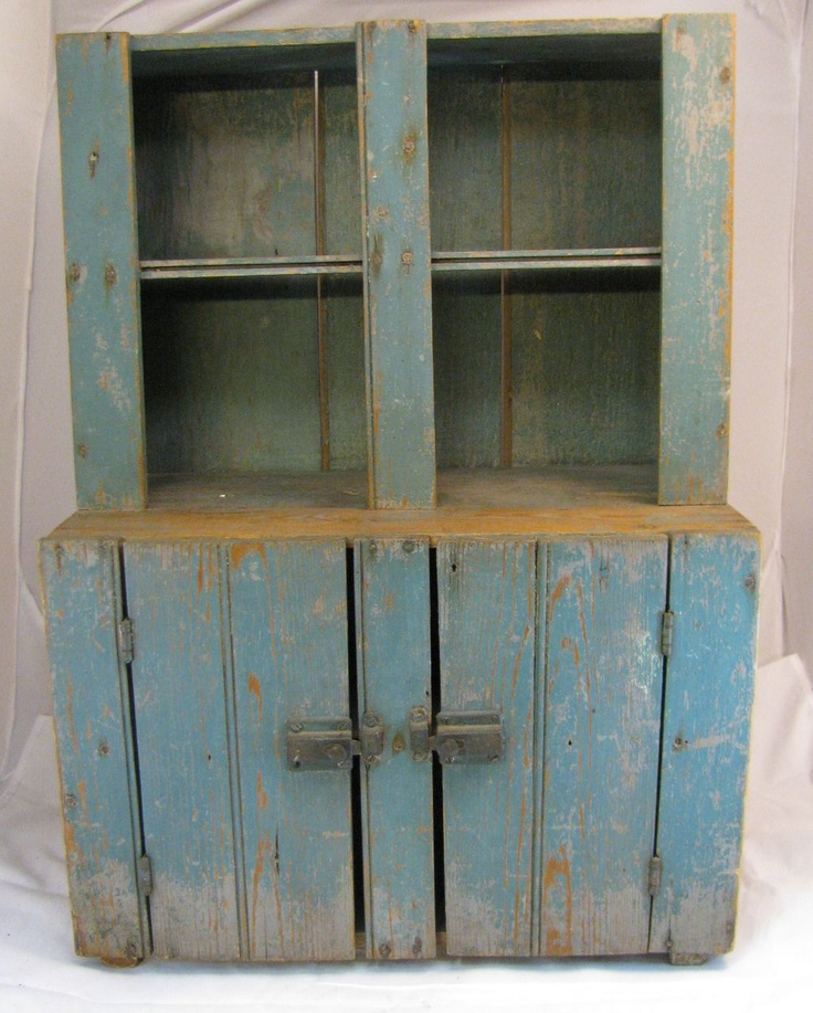 Antique Child's Blue Painted Step-back Cupboard - 12 Best Child's Stepback Antique Primitive Cupboard Images On