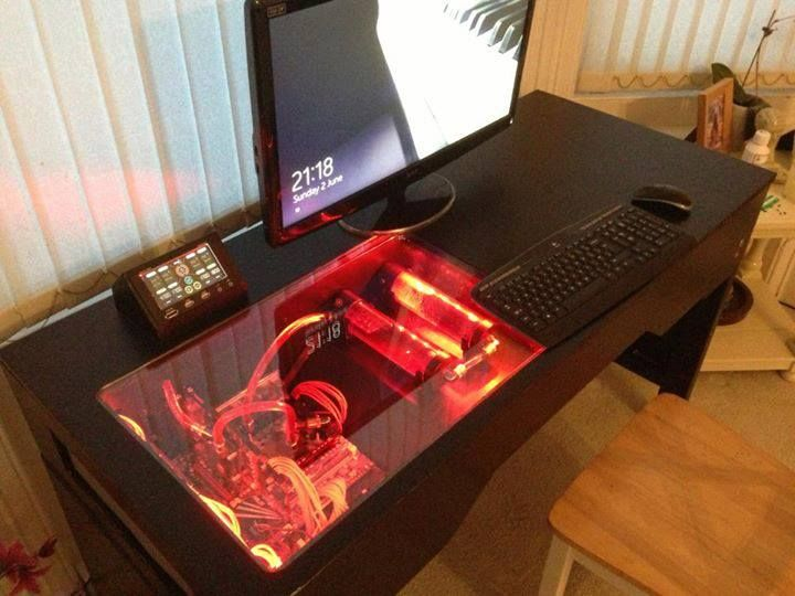 17 best ideas about computer built into desk on pinterest How to make a gaming setup in your room
