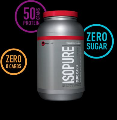 50 grams Protein, 0 Carbs and 0 Sugars. Ladies if you want to lose weight and get toned...this is it